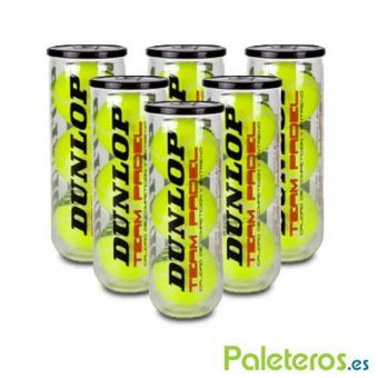 6 Botes de pelotas Dunlop Team Padel