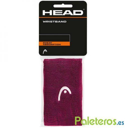 Muñequeras HEAD moradas