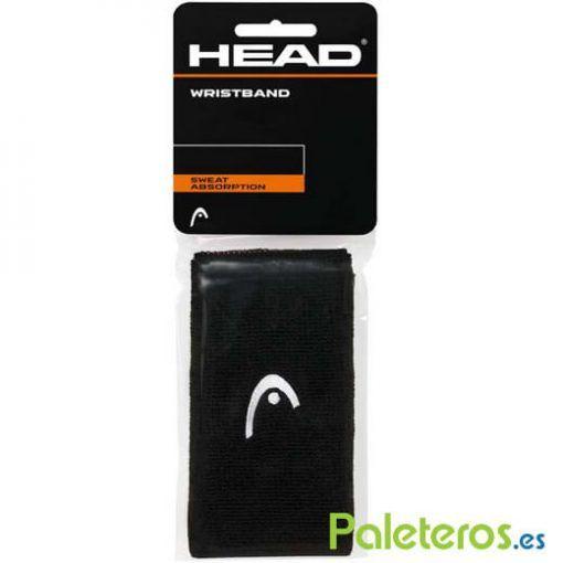 Muñequeras HEAD negras