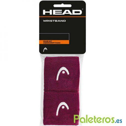 2 Muñequeras moradas de HEAD
