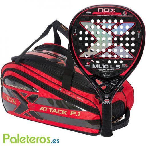 Paletero Attack y pala ML10 Titanium de Nox