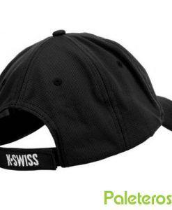 Trasera gorra negra de K-Swiss