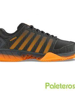 Zapatillas Kswiss Hypercourt Express gris y naranja