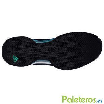 Suela de espiga zapatillas Barricade Club verde de Adidas