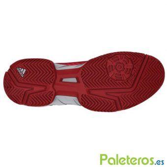 Suela espiga zapatillas Barricade Court 3 roja de Adidas