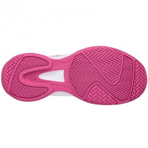 Suela espiga zapatillas Court Express blanca-rosa