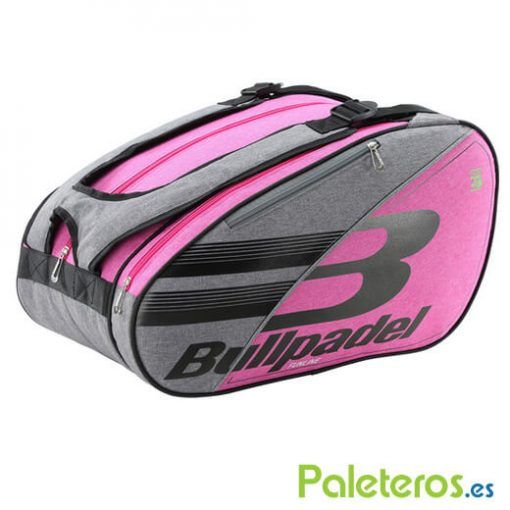 Paletero Bullpadel Funline rosa y gris