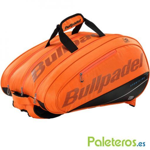 Paletero Bullpadel Mid Capacity naranja fluor