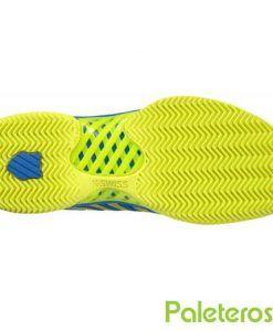 Suela espiga zapatillas Hypercourt Express azul-lima de K-Swiss