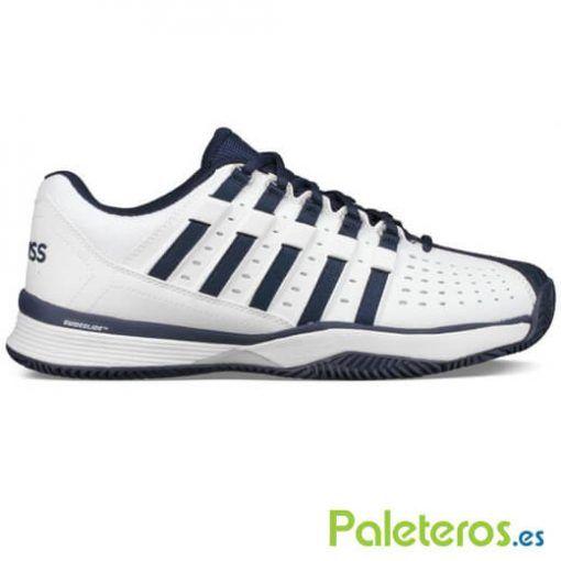 Zapatillas K-Swiss Hypermatch HB blancas y azules