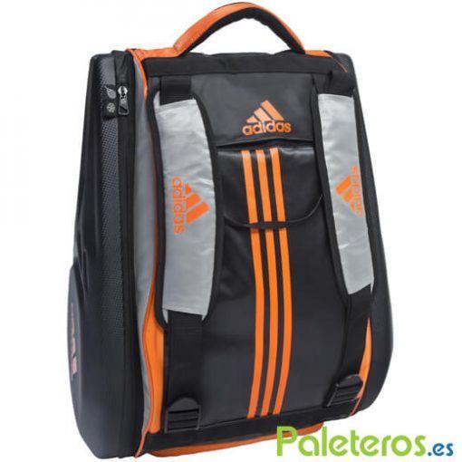 Paletero Adidas Adipower naranja y negro