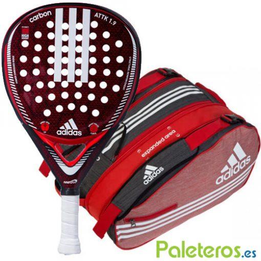 Pala Adidas Carbon Attk + Paletero
