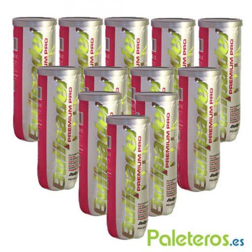 Pack 12 Botes Pelotas Bullpadel Premium Pro