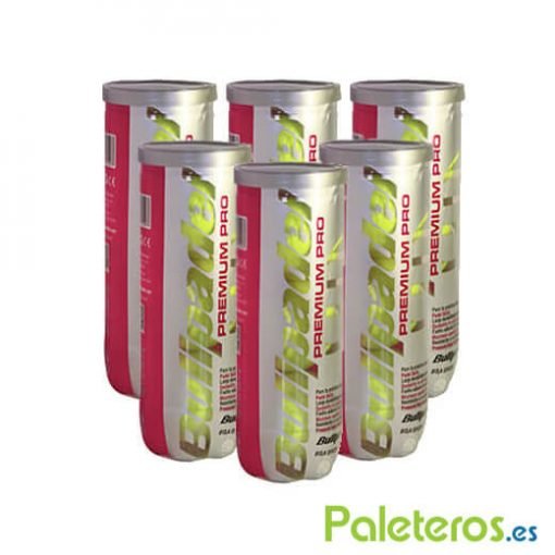 Pack 6 Botes Pelotas Bullpadel Premium Pro