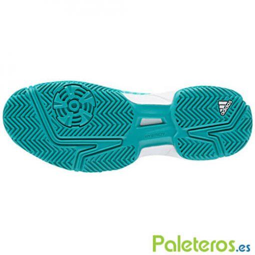 Suela zapatillas Barricade Court verde Adidas