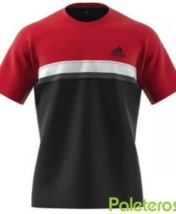 Adidas CamisetaClub Roja-Negra