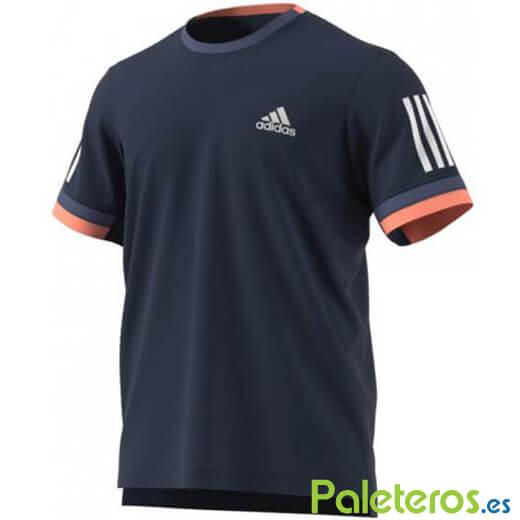Regaño Superioridad teatro  Camiseta Adidas en azul oscuro y blanco - Ligera y Transpirable