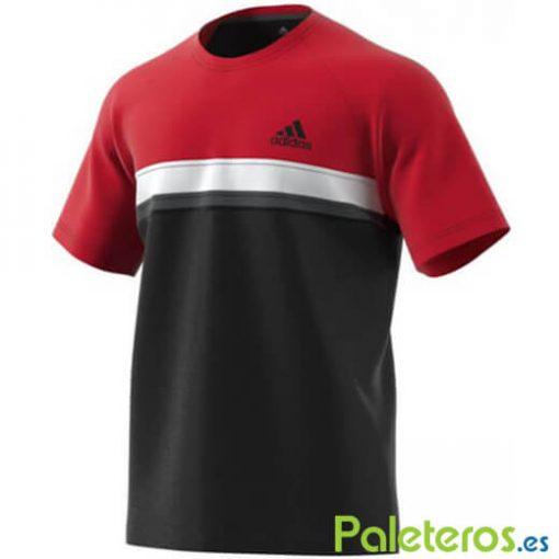 CamisetaAdidasClub Roja-Negra