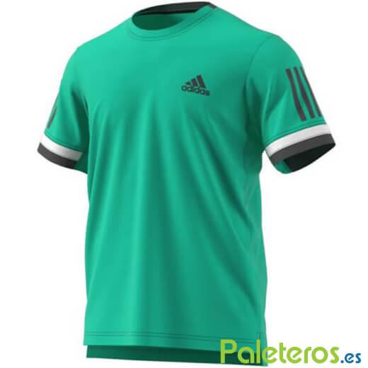 Camiseta Técnica Adidas Club 3 Bandas Blanca