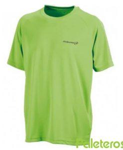 Camiseta Bullpadel Presente Verde Flúor
