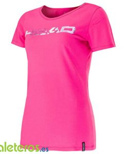 Camiseta HEAD Transition Eva Rosa Mujer