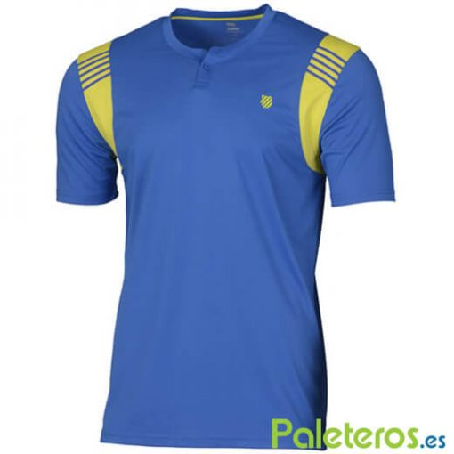 Camiseta K-Swiss Henley Crew Strong Blue