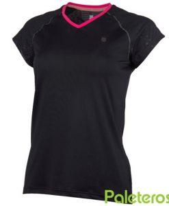 Camiseta K-Swiss Hypercourt Negra Mujer