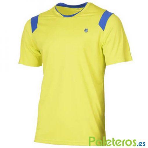 Camiseta K-Swiss Performance Crew Neon