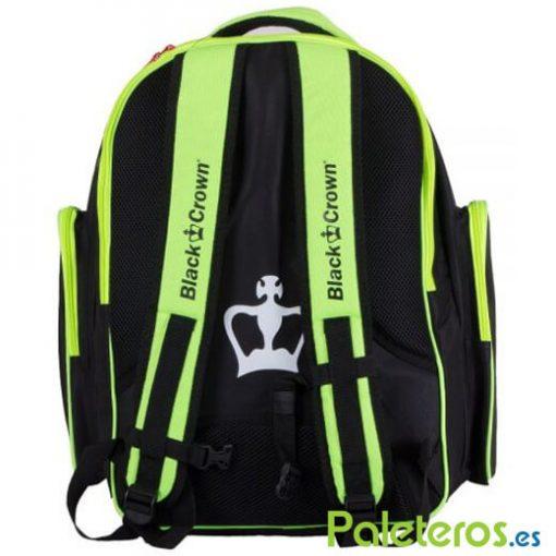 Espalda de la mochila amarilla Black Crown