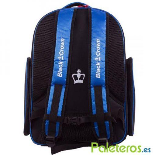 Espalda de la mochila azul Black Crown