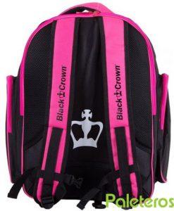 Espalda acolchada de mochila rosa Black Crown