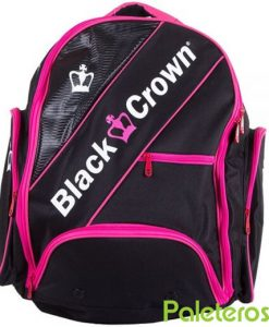 Mochila Black Crown negra y rosa