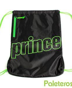 Mochila Nylon Prince negra-verde