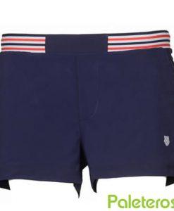 Pantalon Corto K-Swiss Heritage Azul Mujer