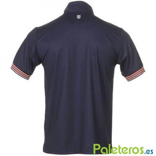 Polo KSwiss Heritage Zip Azul