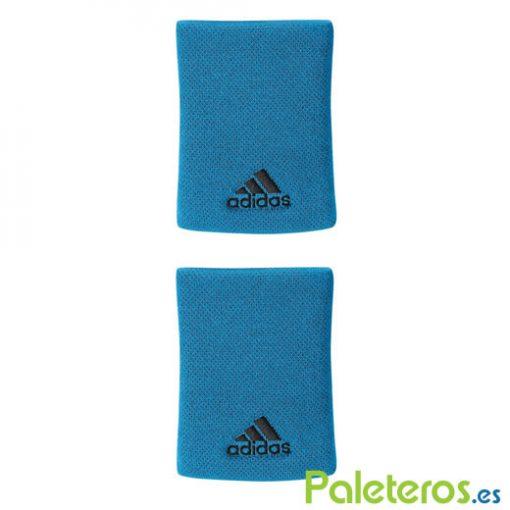 Muñequeras Adidas Azul Grande