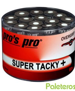 Tambor Overgrips Pros Pro Super Tacky Negros
