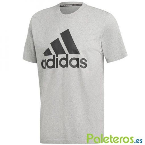 Camiseta Adidas Gris Algodon