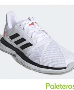 Adidas Courtjam Bounce Blancas-Negras Zapatillas