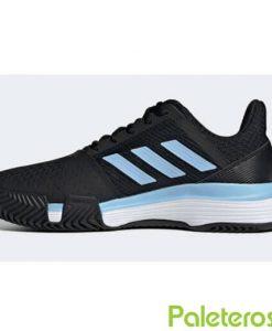 Adidas Courtjam Bounce Clay Negra-Azul Mujer Zapatillas