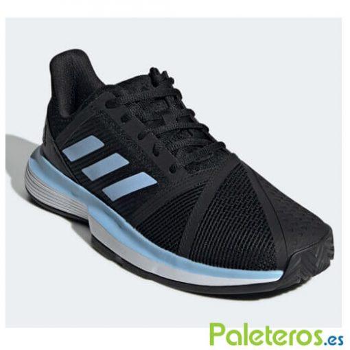 Zapatillas Adidas CourtJam Bounce Clay Negra-Azul Mujer 19