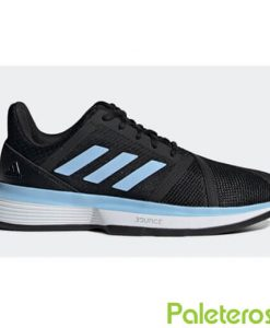 Zapatillas Adidas CourtJam Bounce Clay Negra-Azul Mujer
