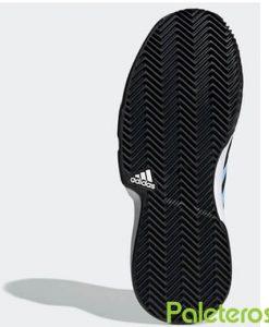 Zapatillas Adidas CourtJam Bounce Clay Negra-Azul Mujer Suela
