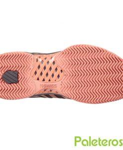 Zapatillas K-Swiss Hypercourt Express Mujer Gris Suela