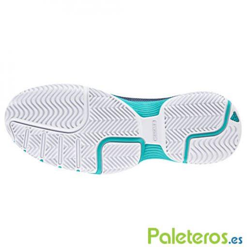 Zapatillas Adidas Barricade Club Woman Verdes-Azules