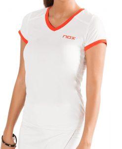 Camiseta Nox Team Blanca Mujer Detalle