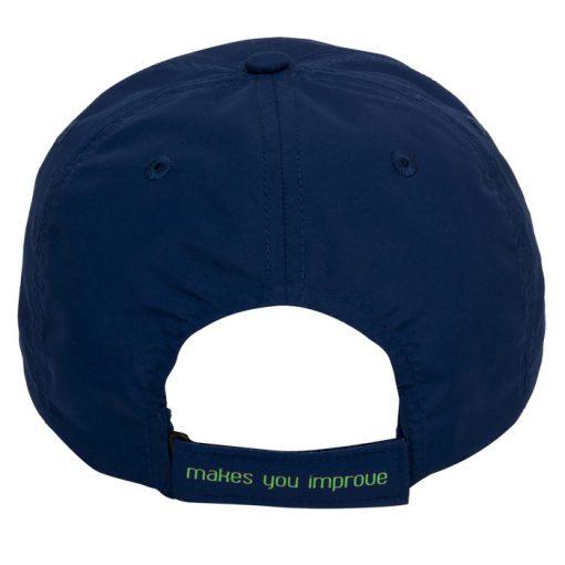 Gorra Nox Azul Logo Verde Detalle
