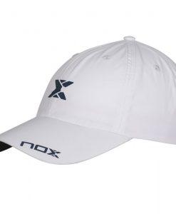 Gorra Nox Blanca Logo Azul