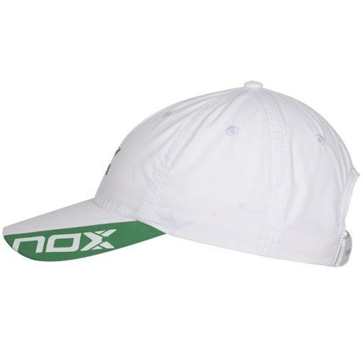 Gorra Nox Blanca Logo Verde 20