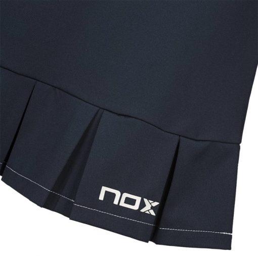 Falda Nox Meta Azul Detalle